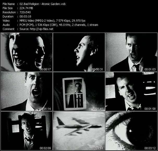 Screenshot of Music Video Bad Religion - Atomic Garden