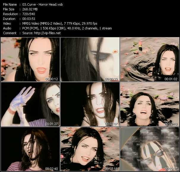 Screenshot of Music Video Curve - Horror Head