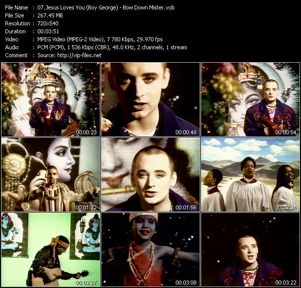 Jesus Loves You (Boy George) video vob