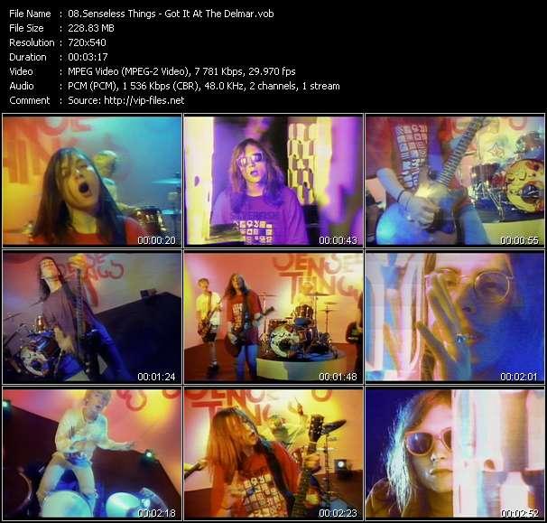 Screenshot of Music Video Senseless Things - Got It At The Delmar