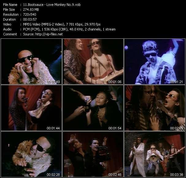 Screenshot of Music Video Bootsauce - Love Monkey No.9