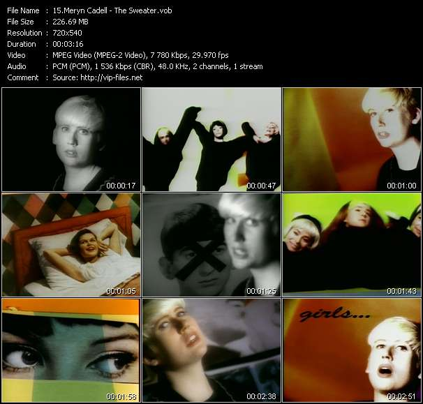 Screenshot of Music Video Meryn Cadell - The Sweater