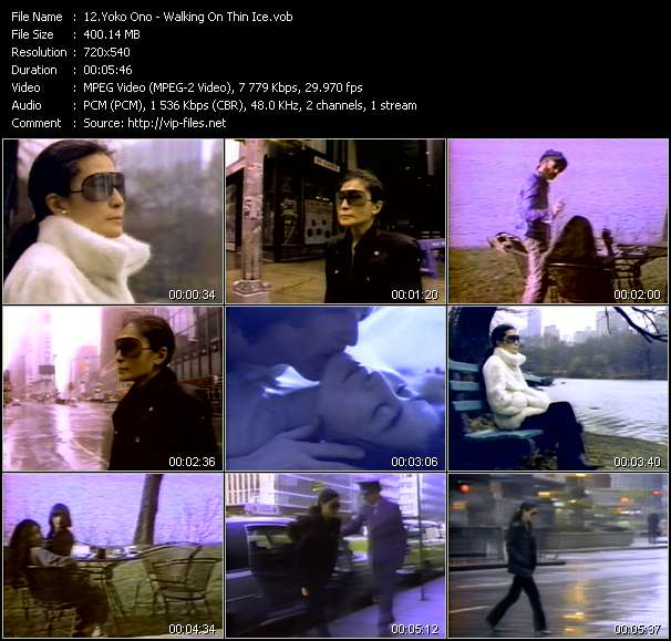 Yoko Ono clips musicaux vob