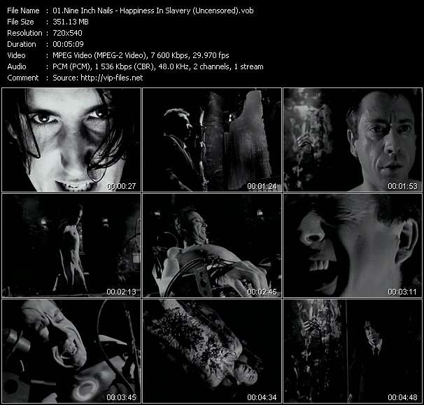 Nine Inch Nails clips musicaux vob