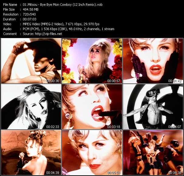 Screenshot of Music Video Mitsou - Bye Bye Mon Cowboy (12 Inch Remix)