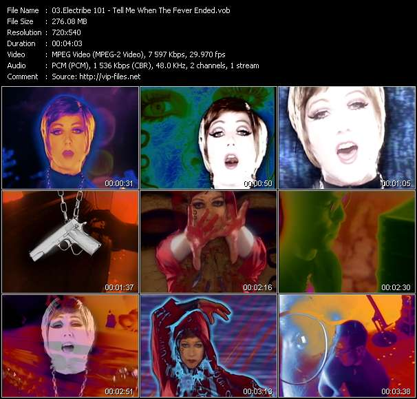 Screenshot of Music Video Electribe 101 - Tell Me When The Fever Ended