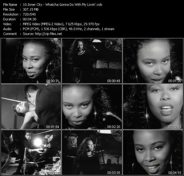 Screenshot of Music Video Inner City - Whatcha Gonna Do With My Lovin'