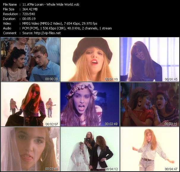 Screenshot of Music Video A'Me Lorain - Whole Wide World