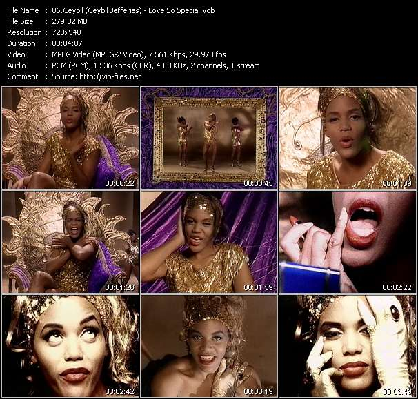 Screenshot of Music Video Ceybil (Ceybil Jefferies) - Love So Special
