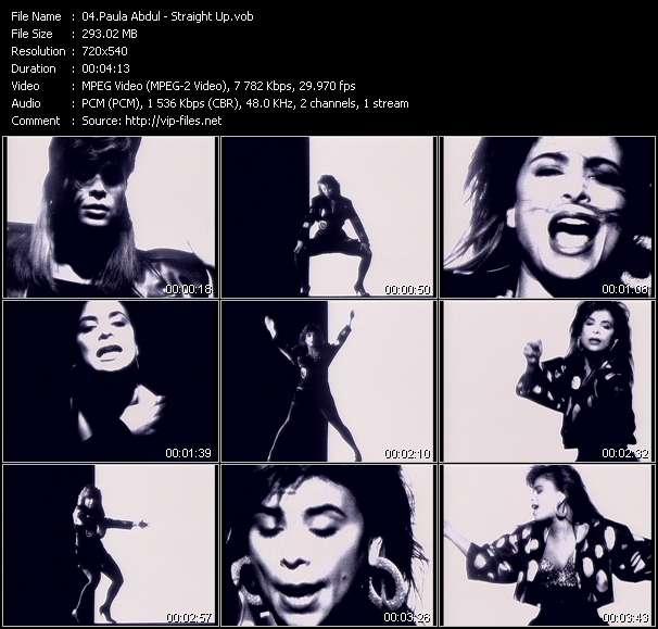 Screenshot of Music Video Paula Abdul - Straight Up