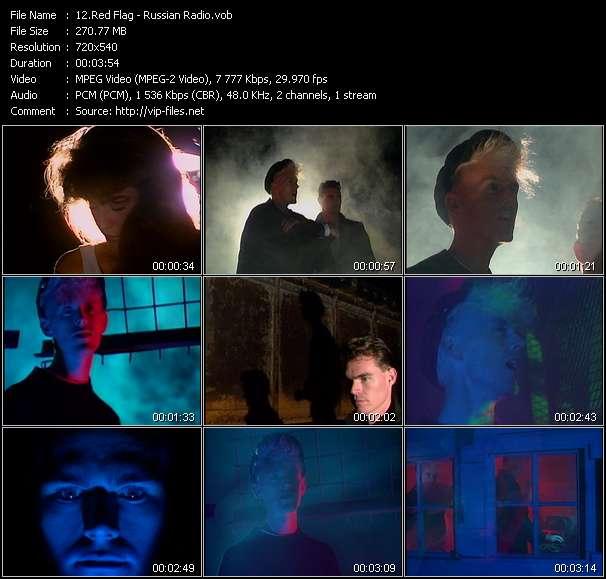 Screenshot of Music Video Red Flag - Russian Radio
