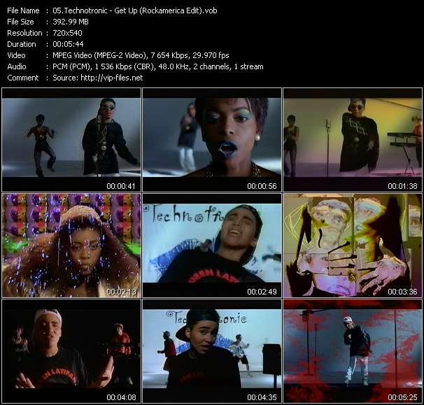 Screenshot of Music Video Technotronic - Get Up (Rockamerica Edit)