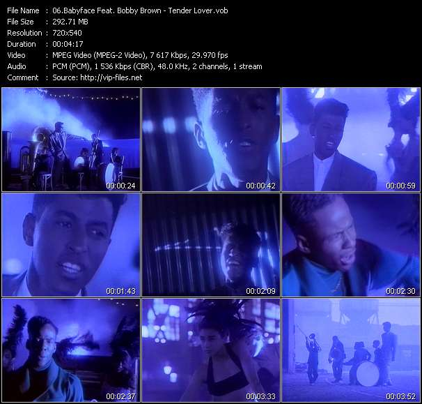 Screenshot of Music Video Babyface Feat. Bobby Brown - Tender Lover