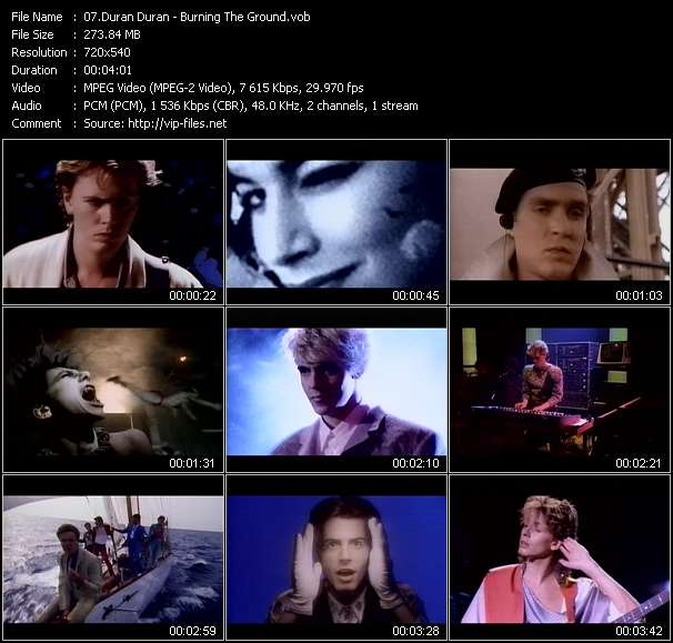 Screenshot of Music Video Duran Duran - Burning The Ground