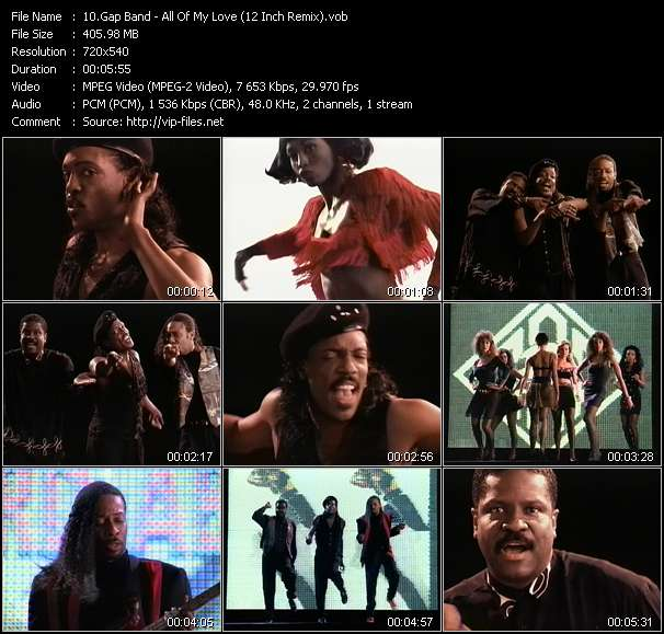 Screenshot of Music Video Gap Band - All Of My Love (12 Inch Remix)