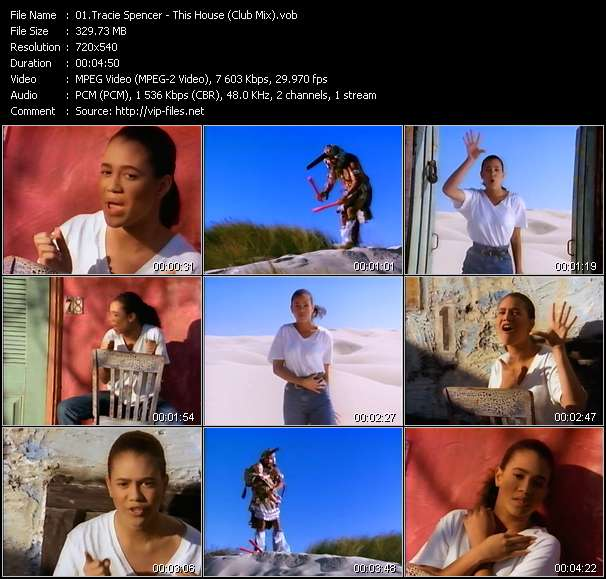 Screenshot of Music Video Tracie Spencer - This House (Club Mix)