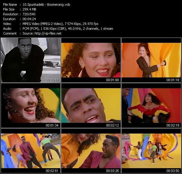 Screenshot of Music Video Spunkadelic - Boomerang