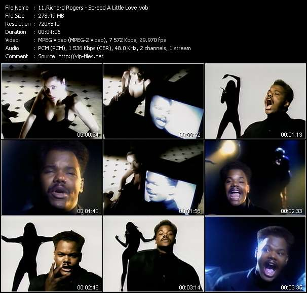 Screenshot of Music Video Richard Rogers - Spread A Little Love