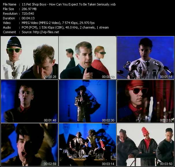 Screenshot of Music Video Pet Shop Boys - How Can You Expect To Be Taken Seriously?