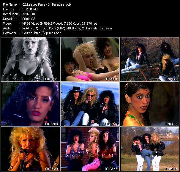 Screenshot of Music Video Laissez Faire - In Paradise