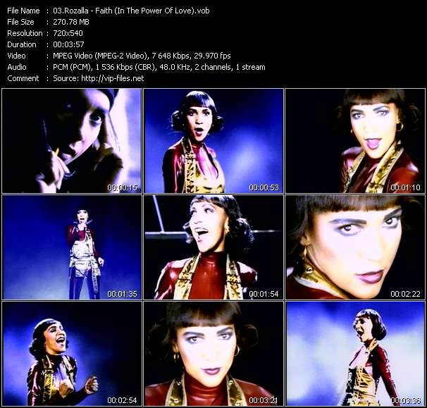 Screenshot of Music Video Rozalla - Faith (In The Power Of Love)