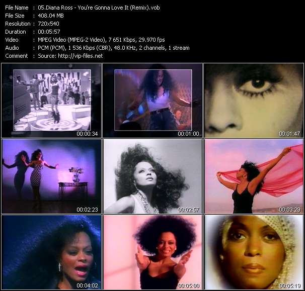 Screenshot of Music Video Diana Ross - You're Gonna Love It (Remix)