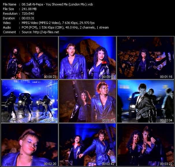 Screenshot of Music Video Salt-N-Pepa - You Showed Me (London Mix)