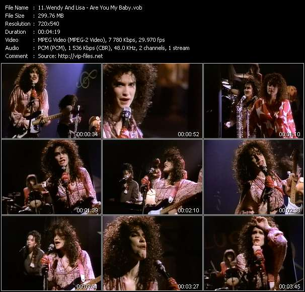 Screenshot of Music Video Wendy And Lisa - Are You My Baby?
