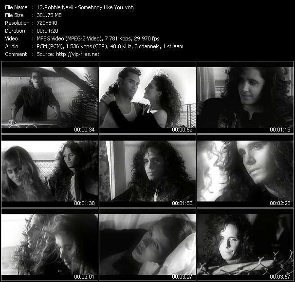 Screenshot of Music Video Robbie Nevil - Somebody Like You