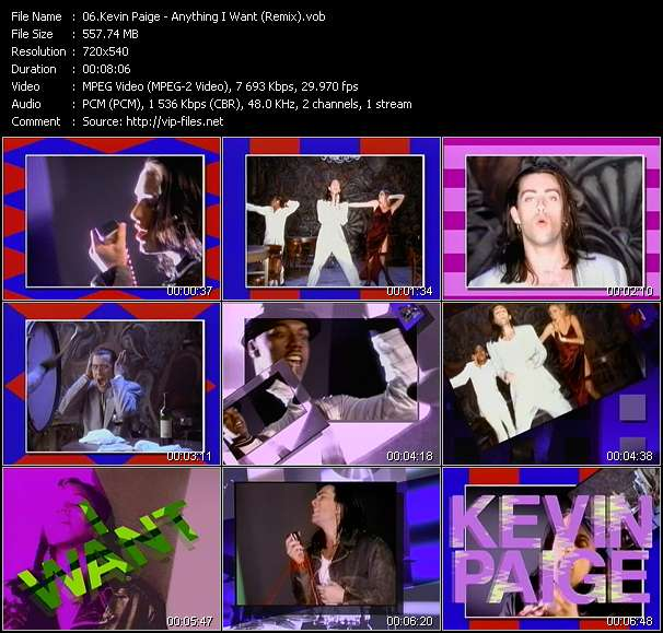 Kevin Paige video vob