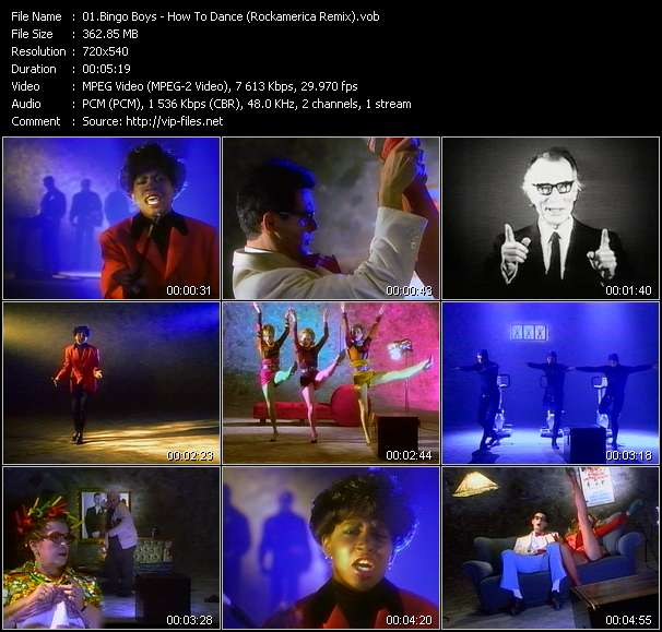 Screenshot of Music Video Bingo Boys - How To Dance (Rockamerica Remix)