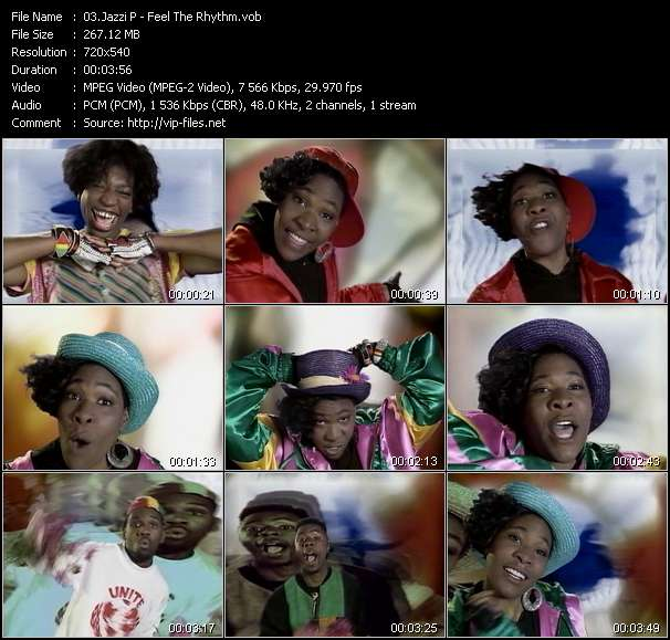 Screenshot of Music Video Jazzi P - Feel The Rhythm