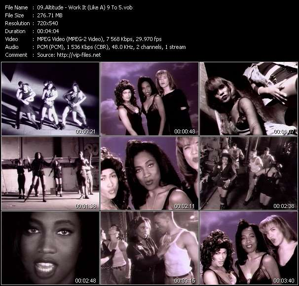 Screenshot of Music Video Altitude - Work It (Like A) 9 To 5