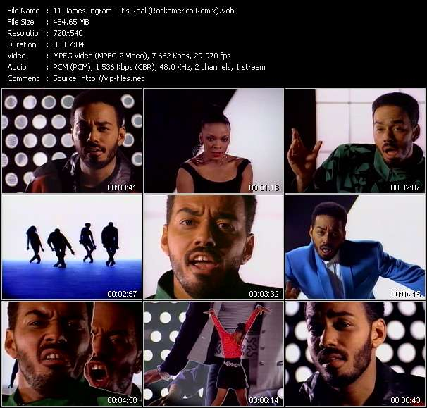 Screenshot of Music Video James Ingram - It's Real (Rockamerica Remix)