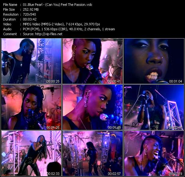 Screenshot of Music Video Blue Pearl - (Can You) Feel The Passion