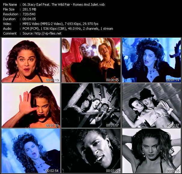 Screenshot of Music Video Stacy Earl Feat. The Wild Pair - Romeo And Juliet