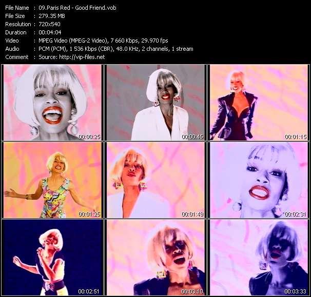 Screenshot of Music Video Paris Red - Good Friend