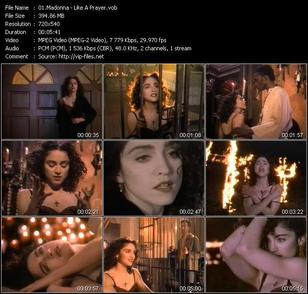 Screenshot of Music Video Madonna - Like A Prayer