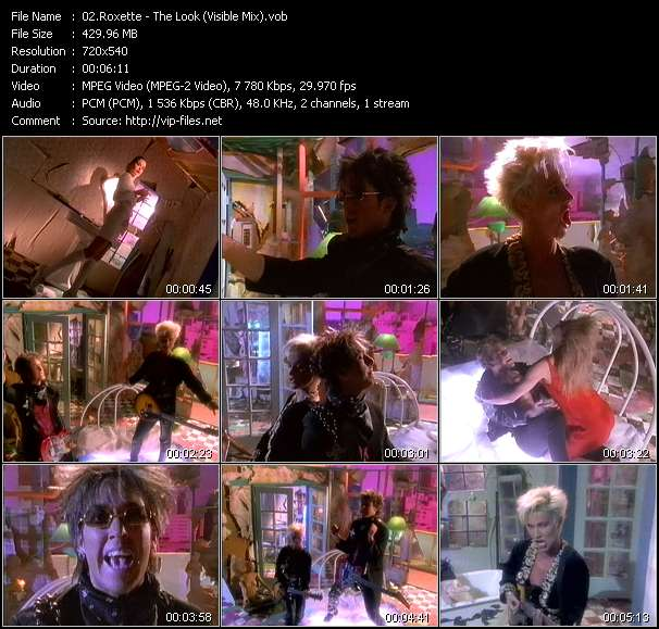 Screenshot of Music Video Roxette - The Look (Visible Mix)