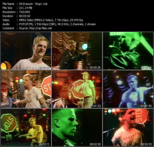 Screenshot of Music Video Erasure - Stop!