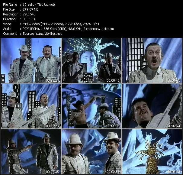Screenshot of Music Video Yello - Tied Up