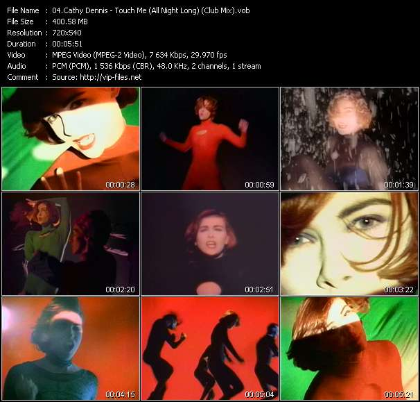 Screenshot of Music Video Cathy Dennis - Touch Me (All Night Long) (Club Mix)