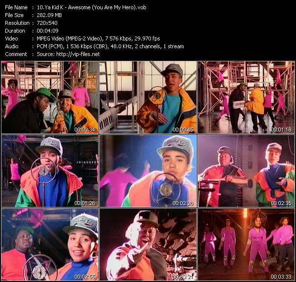 Screenshot of Music Video Ya Kid K - Awesome (You Are My Hero)