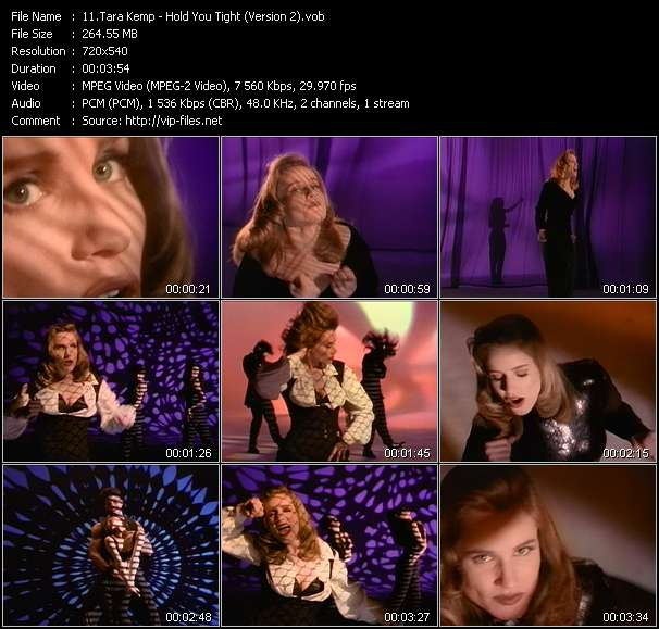 Screenshot of Music Video Tara Kemp - Hold You Tight (Version 2)