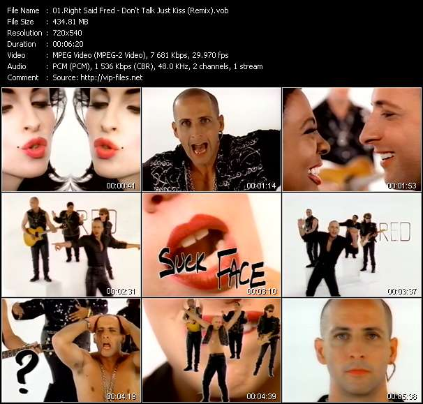 Screenshot of Music Video Right Said Fred - Don't Talk Just Kiss (Remix)