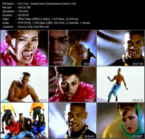 Screenshot of Music Video K-Yze - Sweat Dance (Rockamerica Remix)