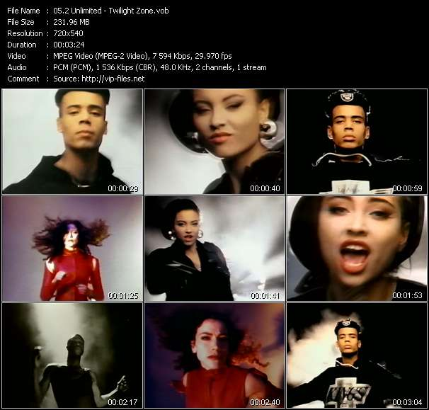Screenshot of Music Video 2 Unlimited - Twilight Zone