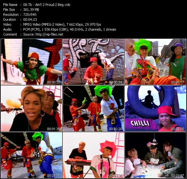 Screenshot of Music Video Tlc - Ain't 2 Proud 2 Beg