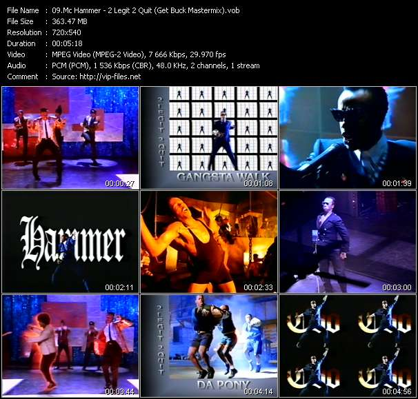 Screenshot of Music Video Mc Hammer - 2 Legit 2 Quit (Get Buck Mastermix)