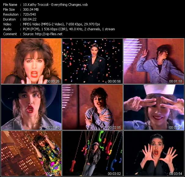 Screenshot of Music Video Kathy Troccoli - Everything Changes